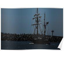 Old sailing ship Poster