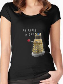 An Apple a Day Keeps the Doctor Away Women's Fitted Scoop T-Shirt