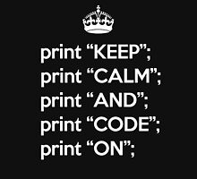 Keep Calm And Code On - Perl - White Unisex T-Shirt