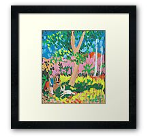Dog Day in the Park Framed Print