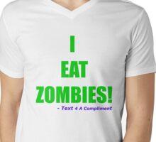 I EAT ZOMBIES (Green) Mens V-Neck T-Shirt