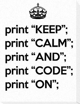 Keep Calm And Code On - Perl - Black by VladTeppi