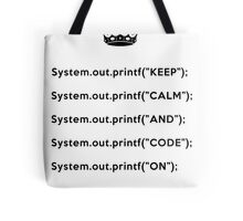 Keep Calm And Carry On - Java - Black Tote Bag