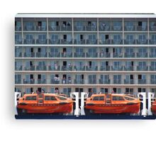 Six Decks and Two Life Boats Canvas Print