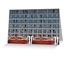 Six Decks and Two Life Boats Greeting Card