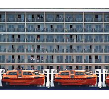 Six Decks and Two Life Boats Photographic Print