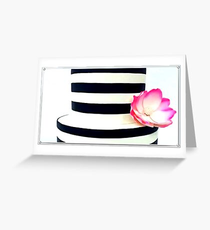 Gorgeous Striped Cake Greeting Card