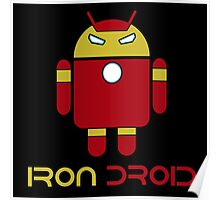 Iron Man + Android - Iron Droid Digital Design Poster