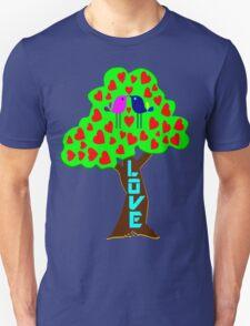 °•Ƹ̵̡Ӝ̵̨̄Ʒ♥Sweet Lovebirds Kissing on a Romantic Love Tree Clothing & Stickers♥Ƹ̵̡Ӝ̵̨̄Ʒ•° Unisex T-Shirt
