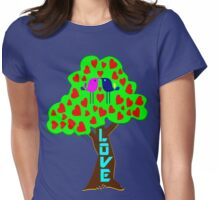 °•Ƹ̵̡Ӝ̵̨̄Ʒ♥Sweet Lovebirds Kissing on a Romantic Love Tree Clothing & Stickers♥Ƹ̵̡Ӝ̵̨̄Ʒ•° Womens Fitted T-Shirt