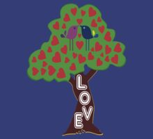°•Ƹ̵̡Ӝ̵̨̄Ʒ♥Sweet Lovebirds Kissing on a Romantic Love Tree Clothing & Stickers♥Ƹ̵̡Ӝ̵̨̄Ʒ•° by Fantabulous