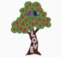 °•Ƹ̵̡Ӝ̵̨̄Ʒ♥Sweet Lovebirds Kissing on a Romantic Love Tree Clothing & Stickers♥Ƹ̵̡Ӝ̵̨̄Ʒ•° Kids Clothes