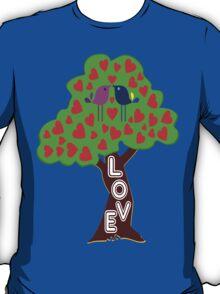 °•Ƹ̵̡Ӝ̵̨̄Ʒ♥Sweet Lovebirds Kissing on a Romantic Love Tree Clothing & Stickers♥Ƹ̵̡Ӝ̵̨̄Ʒ•° T-Shirt
