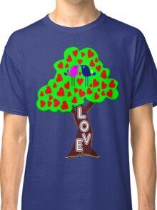 °•Ƹ̵̡Ӝ̵̨̄Ʒ♥Sweet Lovebirds Kissing on a Romantic Love Tree Clothing & Stickers♥Ƹ̵̡Ӝ̵̨̄Ʒ•° Classic T-Shirt