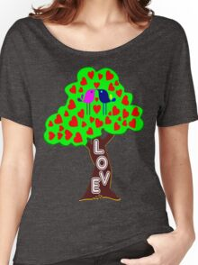 °•Ƹ̵̡Ӝ̵̨̄Ʒ♥Sweet Lovebirds Kissing on a Romantic Love Tree Clothing & Stickers♥Ƹ̵̡Ӝ̵̨̄Ʒ•° Women's Relaxed Fit T-Shirt