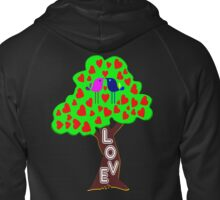 °•Ƹ̵̡Ӝ̵̨̄Ʒ♥Sweet Lovebirds Kissing on a Romantic Love Tree Clothing & Stickers♥Ƹ̵̡Ӝ̵̨̄Ʒ•° Zipped Hoodie