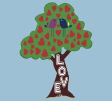 °•Ƹ̵̡Ӝ̵̨̄Ʒ♥Sweet Lovebirds Kissing on a Romantic Love Tree Clothing & Stickers♥Ƹ̵̡Ӝ̵̨̄Ʒ•° Kids Clothes