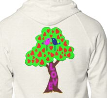 °•Ƹ̵̡Ӝ̵̨̄Ʒ♥Romantic Lovebirds Kissing on a Love-Tree Clothing & Stickers♥Ƹ̵̡Ӝ̵̨̄Ʒ•° Zipped Hoodie