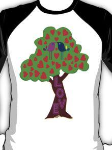 °•Ƹ̵̡Ӝ̵̨̄Ʒ♥Romantic Lovebirds Kissing on a Love-Tree Clothing & Stickers♥Ƹ̵̡Ӝ̵̨̄Ʒ•° T-Shirt