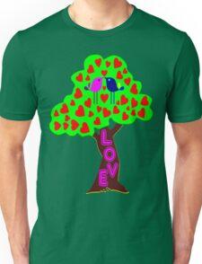 °•Ƹ̵̡Ӝ̵̨̄Ʒ♥Romantic Lovebirds Kissing on a Love-Tree Clothing & Stickers♥Ƹ̵̡Ӝ̵̨̄Ʒ•° Unisex T-Shirt