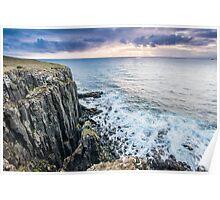 Sunset from Bornesketaig, Isle of Skye Poster