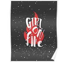 The Girl On Fire Poster