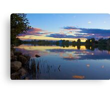 Sunset Tweed River  Canvas Print