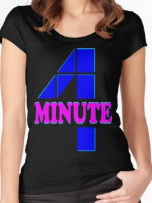㋡♥♫Hot Fabulous K-Pop Girl Group-4Minute Clothing & Stickers♪♥㋡ Women's Fitted Scoop T-Shirt