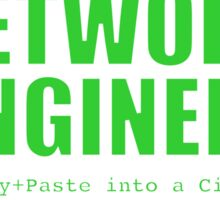Network Engineer (Green) - Copy+Paste Sticker