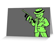 Fallout 4 Vault Boy Green Greeting Card