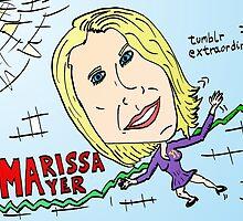 tumblr owned by Yahoo Marissa Mayer cartoon by Binary-Options