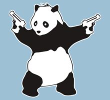 Banksy Panda With Guns by PFostCSY