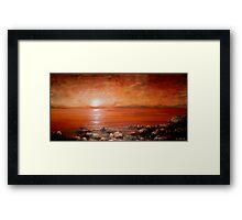 Red Ocean Sunset Framed Print