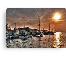 Fiery Sky Over the Lagoon - Grado - Italy Canvas Print
