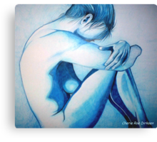 Caught up in Blue Canvas Print