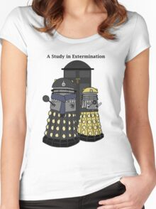 A Study in Extermination Women's Fitted Scoop T-Shirt