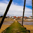 Wooden Slipway Rhos on Sea by mlphoto