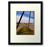 Wooden Slipway Rhos on Sea Framed Print