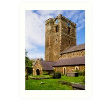 St Mary's Church Conway Art Print