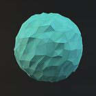 Teal Low Poly Sphere by error23