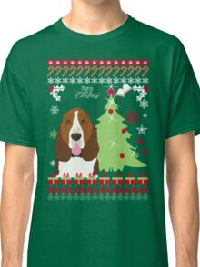 Basset Hound Christmas Sweater Classic T-Shirt
