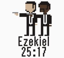 8-bit Pulp Fiction: Ezekiel 25:17 by geofurlong