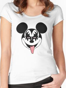 Mickey Kiss Women's Fitted Scoop T-Shirt