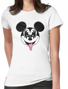 Mickey Kiss Womens Fitted T-Shirt