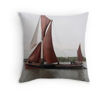 Saining Barge 'Repertor'. Throw Pillow