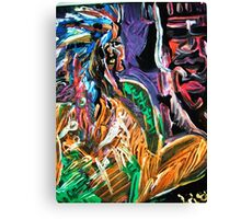 CHIEF - acrylic, paper 22 x 28'' Canvas Print