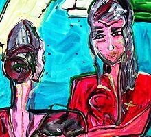 WELCOME NEW FRIEND - acrylic, tempera, paper 22 x 28'' by irishrainbeau