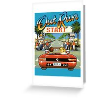 Outrun Greeting Card