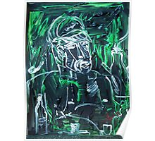 man and his spirits - acrylic, tempera, paper 22 x 28'' Poster