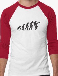 Evolution of silly walks Men's Baseball ¾ T-Shirt